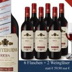 Spare 35% beim Kauf von 6 Flaschen Montebuna Tempranillo Rioja bei Hawesko!
