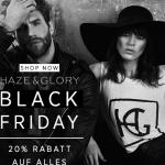20% Rabatt auf die komplette Kollektion von Haze & Glory