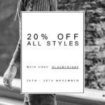 Noch bis Montag gibt es 20% auf alle Styles im Online-Shop von Haze & Glory!