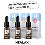 Nur für kurze Zeit: Premium CBD Öle aus Deutschland von Healax 15% günstiger