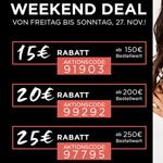 Sicher dir jetzt bis zu 25 EURO Rabat bei den Weekend Deals im Online-Shop von Heine!