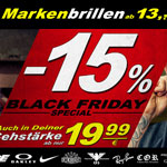 Sicher dir 15% Black Friday Special bei Helbrecht optics