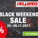 Black Weekend Sale im HELLWEG Online Shop. Ausgewählte Artikel bis zu 50% reduziert!