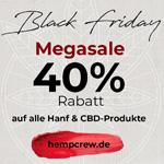 Jetzt zugreifen – Nur heute gibt es exklusive 40% Rabatt auf alle Hanf & CBD Produkte im Onlineshop von HempCrew