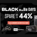 Black Days bei HiFi Klubben – Spare jetzt bis zu 44%