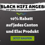 Black Hifi Week bei HiFi Schluderbacher – 10% Rabatt auf jedes Canton und Elac Produkt