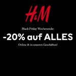 Black Friday Wochenende bei H&M – Spare jetzt 20% auf alles.