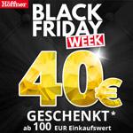 Black Friday Week bei Höffner – Bekomme jetzt 40 EURO geschenkt ab 100 EURO Einkaufswert.