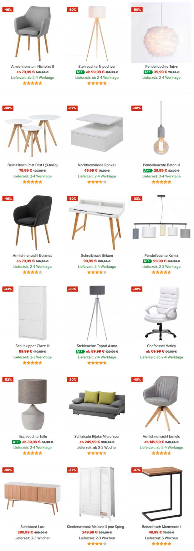 black friday week bei home24 sicher dir bis zu 60 rabatt auf ausgew hlte artikel black. Black Bedroom Furniture Sets. Home Design Ideas