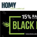 15% Rabatt auf alle Möbel und Accessoires im Shop von Homy!
