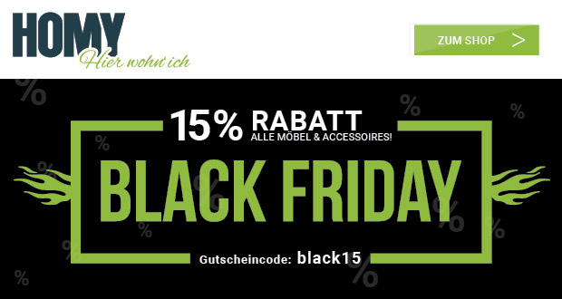 Homy Black Friday 2018