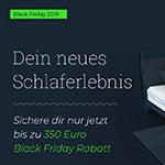 Sicher dir nur jetzt bis zu 350 Euro Black Friday Rabatt auf deine HONGi Faultiermatratze!