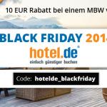 10 Euro Rabatt bei einem Mindestbestellwert von 100 Euro auf hotel.de!
