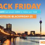 Black Friday bei Hotel.de – Spare jetzt 25€ bei deiner Buchung auf Hotel.de!