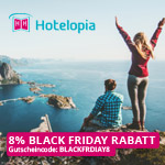 8% Black Friday Rabatt auf deinen nächsten Traumurlaub bei Hotelopia