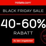 Sicher dir jetzt 40% – 60% Rabatt für deinen nächsten Urlaub bei Hotels.com!
