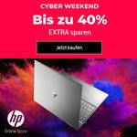 Cyber Weekend: Bis zu 40% extra sparen auf ausgewählte Produkte im HP® Online Store!