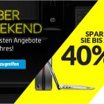 Cyber-Weekend bei HP: 4 Tage lang bis zu 40% Rabatt auf Zubehör, Notebooks, Drucker uvm.