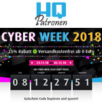 HQ Patronen Cyberweek – 25% Rabatt auf Alternative Tinte und Toner