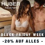 Black Friday Week bei HUBER: Jetzt 20% Rabatt auf Wäsche und Bodywear