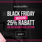 Black Friday Weekend bei Hunkemöller: 25% Rabatt auf alles