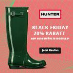 Black Friday bei Hunter – 20% Rabatt auf alle Modelle