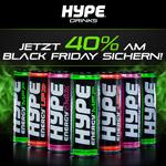 Sicher dir jetzt 40% Rabatt auf Hype Energy Drinks zum Black Friday