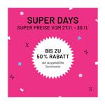 Spare jetzt mit den Super Days Angeboten bei idee. Creativmarkt bis zu 50% auf ausgewählte Artikel