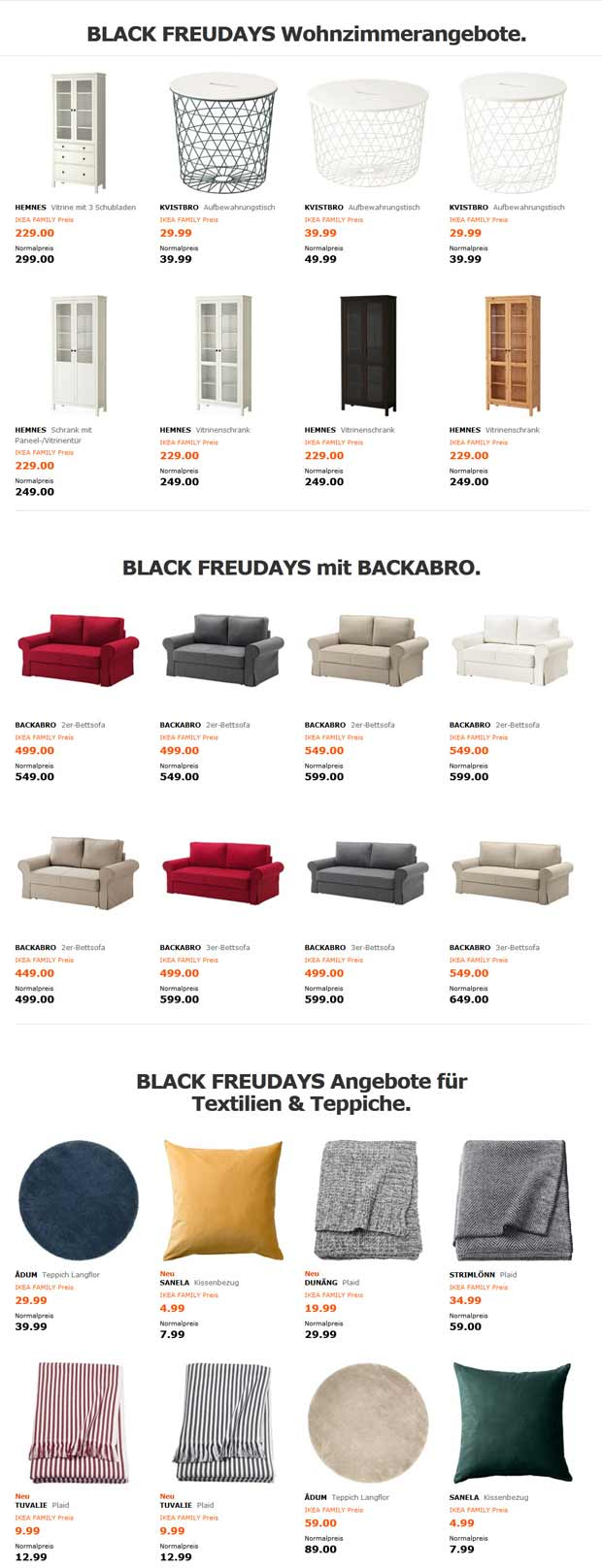 black freudays bei ikea sicher dir jetzt die ikea family angebote black. Black Bedroom Furniture Sets. Home Design Ideas