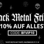 Ob Merchandise oder Streetwear, zum Black Metal Friday gibt es 10% Rabatt auf alles bei Impericon