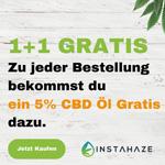 Jetzt Premium CBD Öle von Instahaze bestellen und ein 5% CBD Hanfsamenöl GRATIS dazu bekommen