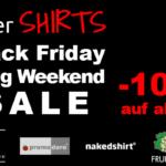Black Friday Long Weekend SALE bei interSHIRTS mit 10% Rabatt auf alles!