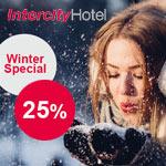 Sicher dir mit dem IntercityHotel Winter Special 25% Rabatt