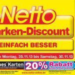 20% auf 25 Euro iTunes Karten bei Netto und Penny