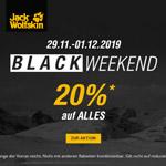 Black Weekend bei Jack Wolfskin – Spare jetzt 20% auf ALLES