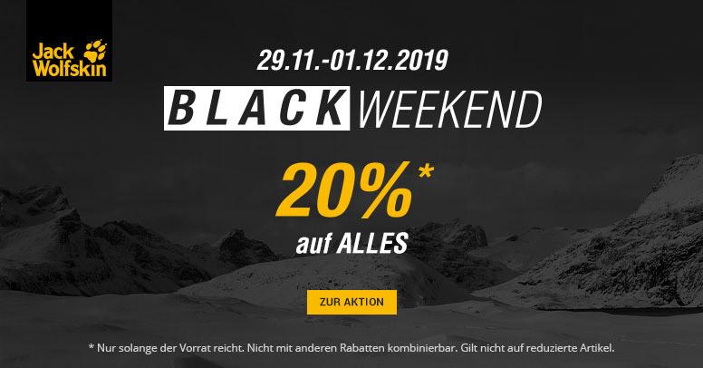 Jack Wolfskin Black Weekend 2019