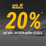 Jack Wolfskin Black Weekend: 20% Rabatt auf alle Jacken außer FLEECE