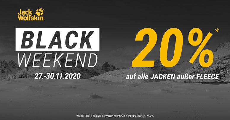 Jack Wolfskin Black Friday 2020