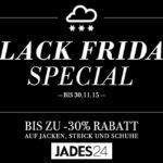 Spare bis zu 30% auf Jacken, Strick und Schuhe im Shop von Jades24!