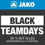 Black Teamdays bei Jako – Nur für kurze Zeit 30% Rabatt auf Alles!