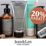 20% Rabatt auf vegane Pflegeprodukte von Jean & Len