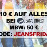 Sicher dir den JeansFriday Rabatt von 10 EURO im Onlinestore von Jeans-Direct!