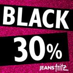 30% auf ausgewählte Artikel während der BlackDays bei Jeans Fritz