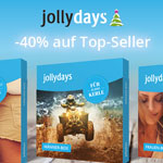 Jollydays – Sicher dir jetzt 20% auf Top-Seller und 40% auf alle Erlebnisgeschenkboxen