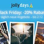 Black Friday bei Jollydays – das heißt -20% auf die Topseller-Erlebnisse