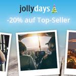 Jollydays – Sicher dir jetzt 20% auf Top-Seller