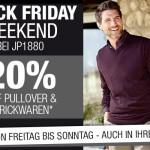 Ob Online oder in der Filiale: 20% Rabatt auf Pullover und Strickwaren bei JP1880!