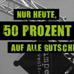 50% Rabatt auf alle Gutscheine für deinen nächsten Bungee Sprung auf Jumper-Events.de!