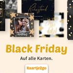 Verschicke jetzt deine Weihnachtsgrüße und spare 15% mit dem Black Friday Rabatt von Kaartje2go