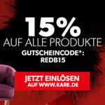 Red is the new Black – 15% auf alle Produkte beim Einrichtungsspezialisten Kare